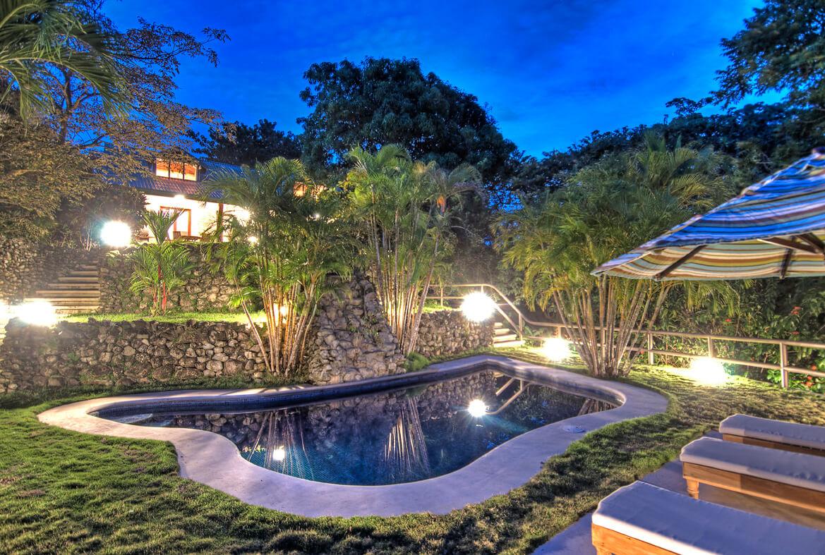 Casa Dorada Pool At Night Hacienda Barrigona